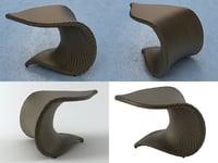 leaf table 3D model