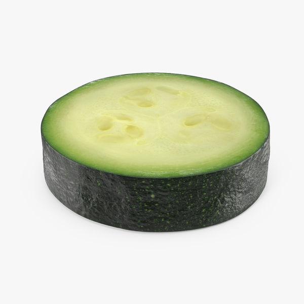zucchini section 3D