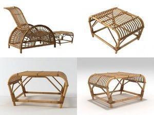 3D forest slug chair