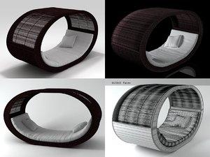 3D model sampan chair