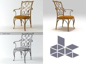 3D argossy armchair