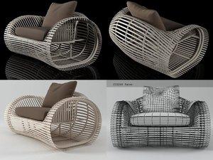 3D lolah armchair model