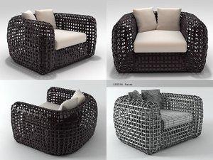 matilda easy armchair 3D