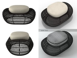 balou ottoman 3D model