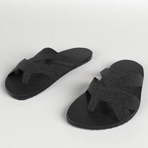 3D sandals slippers 3 model
