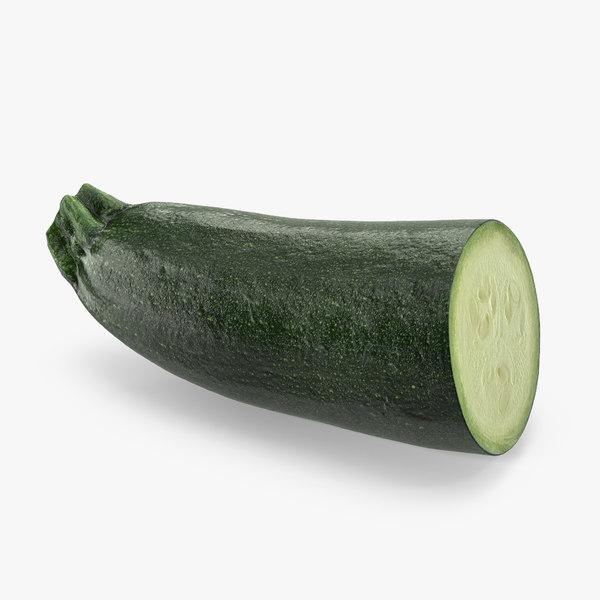 zucchini half 3D model