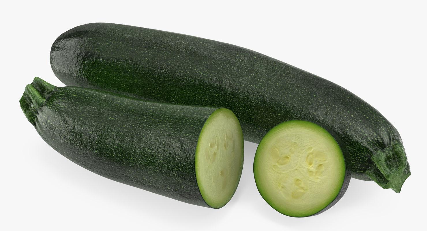 3D zucchini