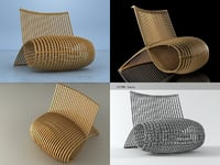 3D wooden chair mn30 model