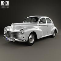 3D peugeot 203 1948 model