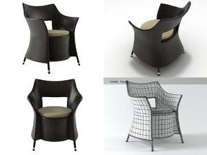 dafne armchair 3D