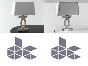 3D alabaster concentric circles lamp model