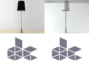 3D pascal mourgue reading lamp