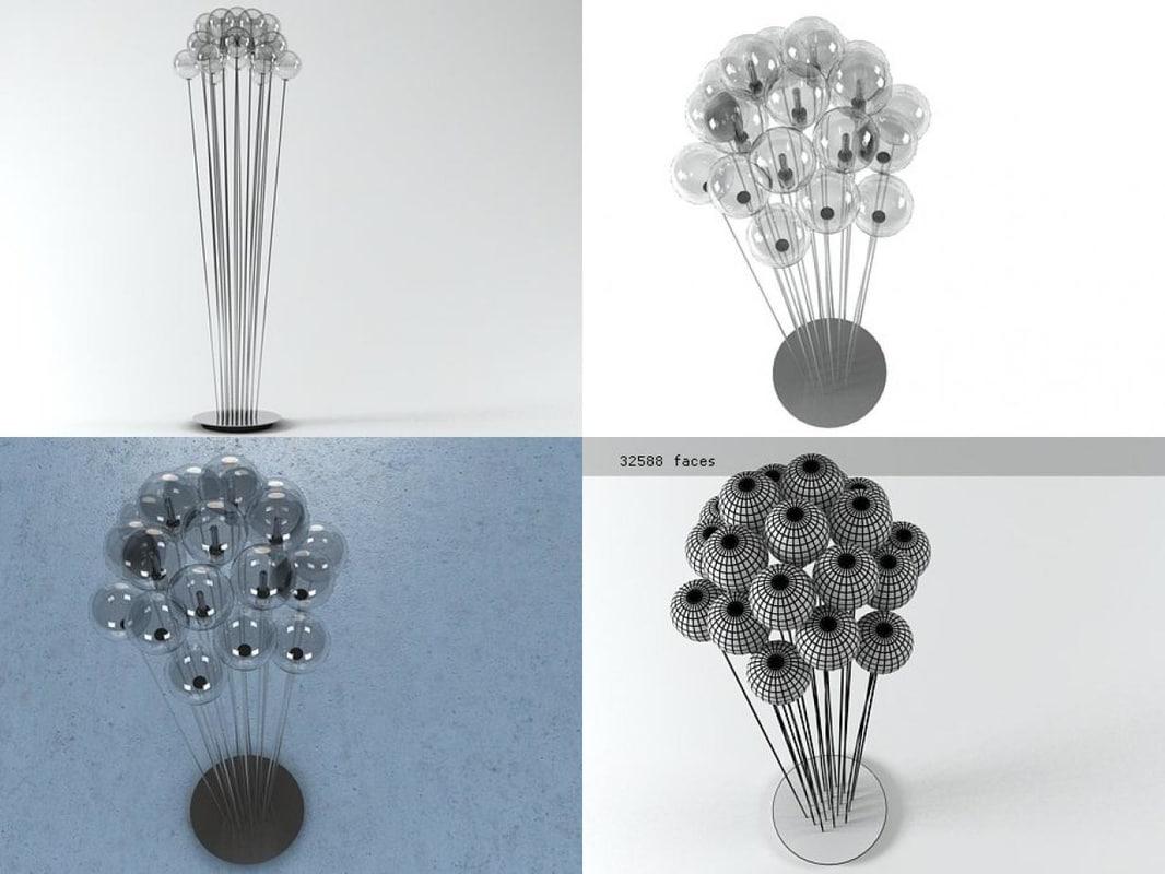 sphere floor lamp 3D model