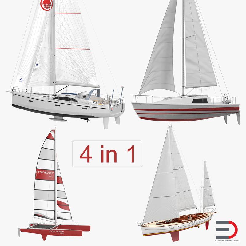 3D sailing yachts 2