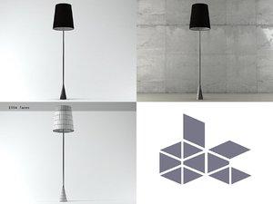 pascal mourgue standard floor lamp 3D model