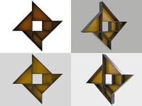 tangram 9 3D model
