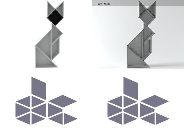 3D tangram 7
