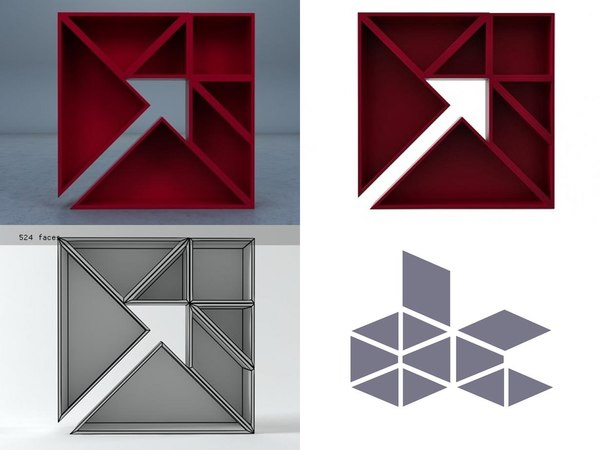 tangram 8 3D model