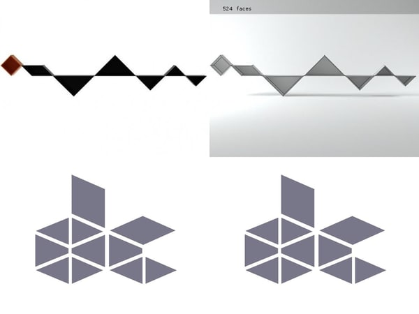 tangram 12 3D model