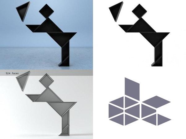 tangram 6 3D model