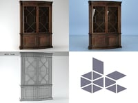 3D china cabinet 2593