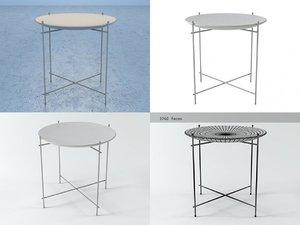 3D retro style tray table model