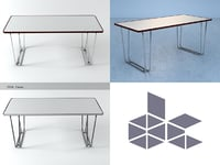 bd table 3D model