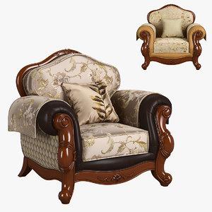 3D model 230-1 carpenter sofa c