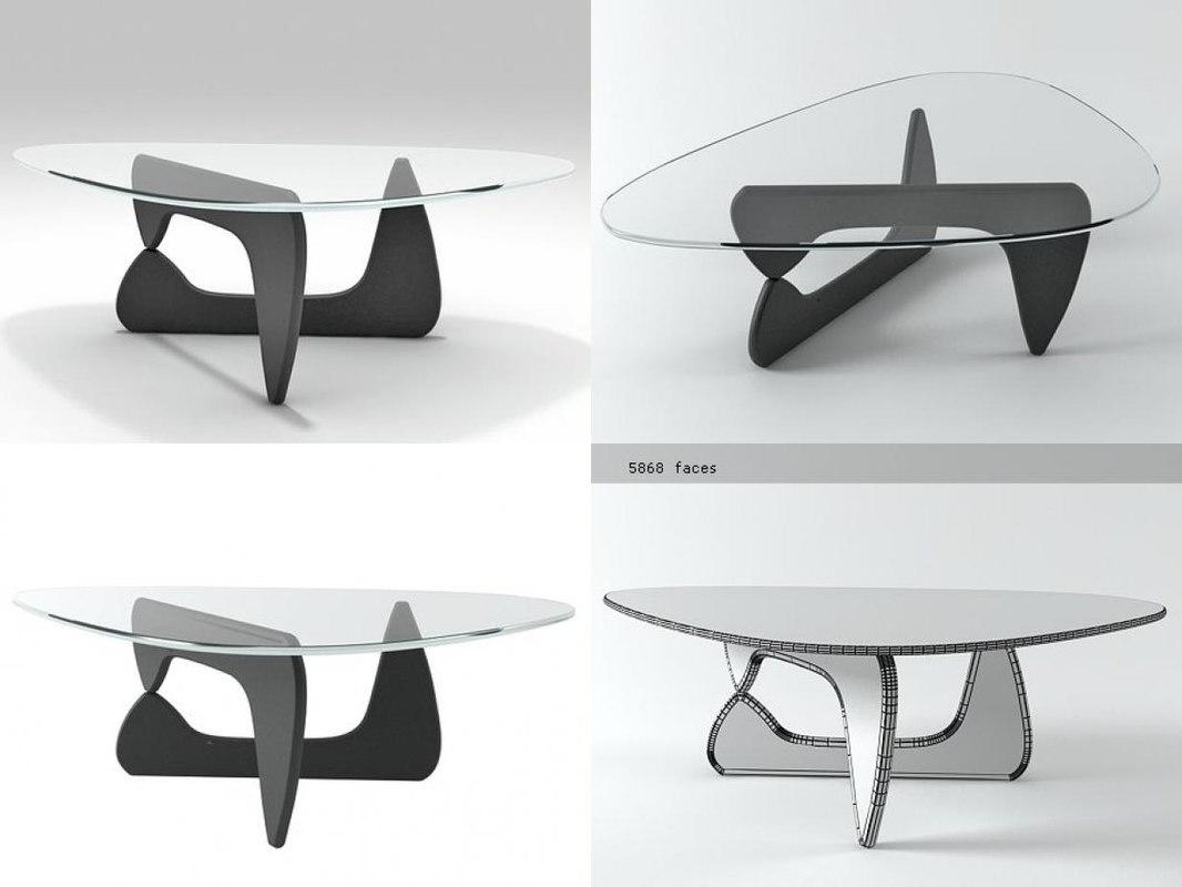 noguchi coffee table 3D