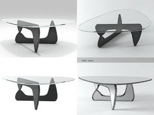 noguchi coffee table 3D