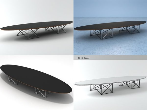 elliptical table 3D