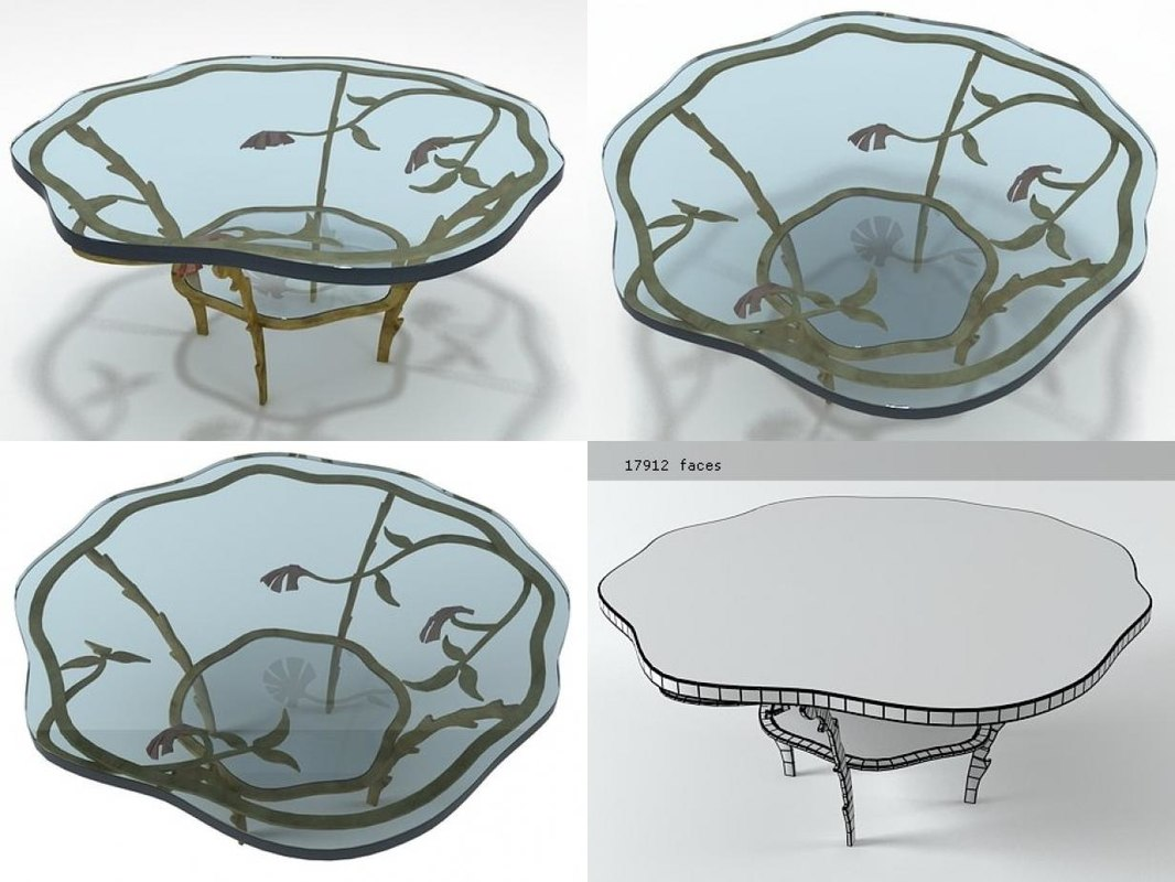 3D cocktail table model