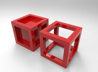 cube framed box model