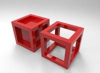Framed box cube