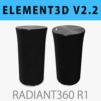 E3D - Samsung Radiant360 R1 Wireless Speaker 3D model