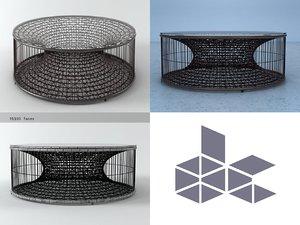 3D amaya coffee table