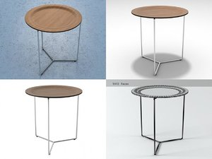 bailey small tray table 3D model