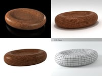 egg shape table 3D model