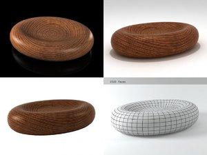 egg shape table 3D model