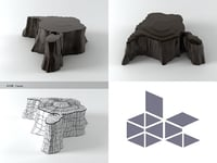 3D model volcano chista