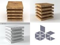 ridge square 3D model