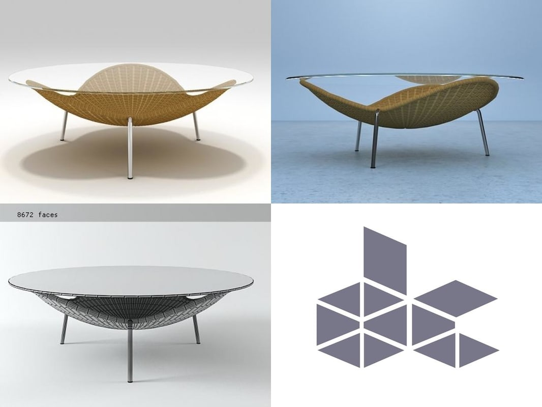 3D coffee-tables vittorio-bonacina model