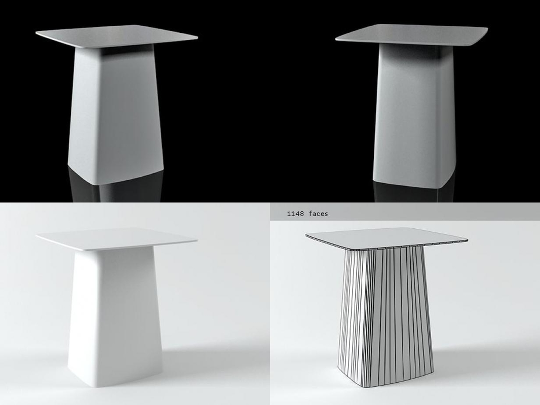 3D metal table medium model