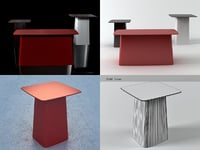 3D model metal table small