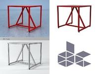 strut table 3D