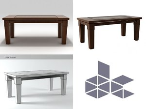 coco table 3D model