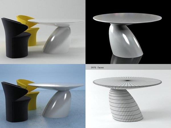 parabel dining table 3D model