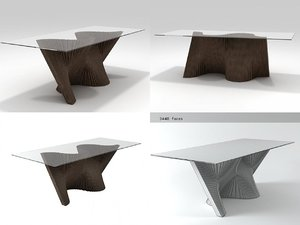 wave dining table 3D model