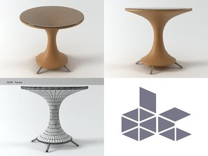 nilo small table 3D model