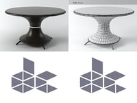 nilo large table 3D